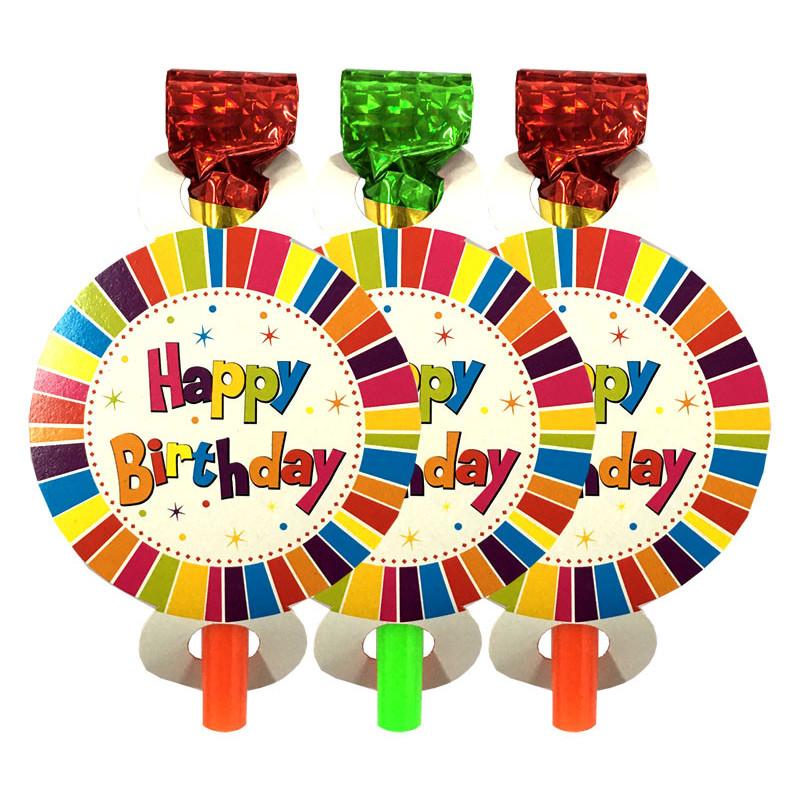 Язычок-гудок Happy Birthday 6шт/уп