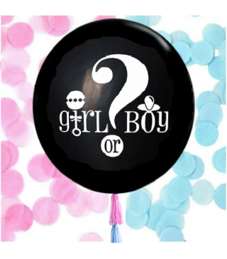 Набір кульок ? Girl /Boy з конфетті+помпони 36 (15п) латекс 06028 Китай