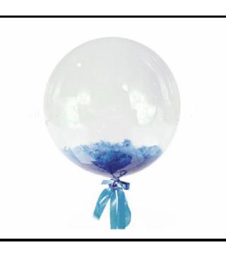 Кулька баблс з фіолет.пірям 36см 1шт. 2254 Китай