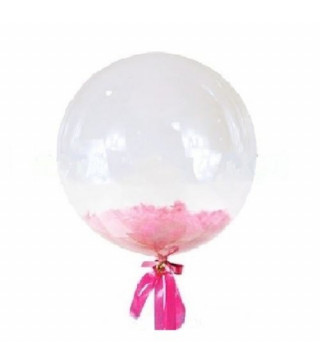 Кулька баблс з рожевим пір'ям