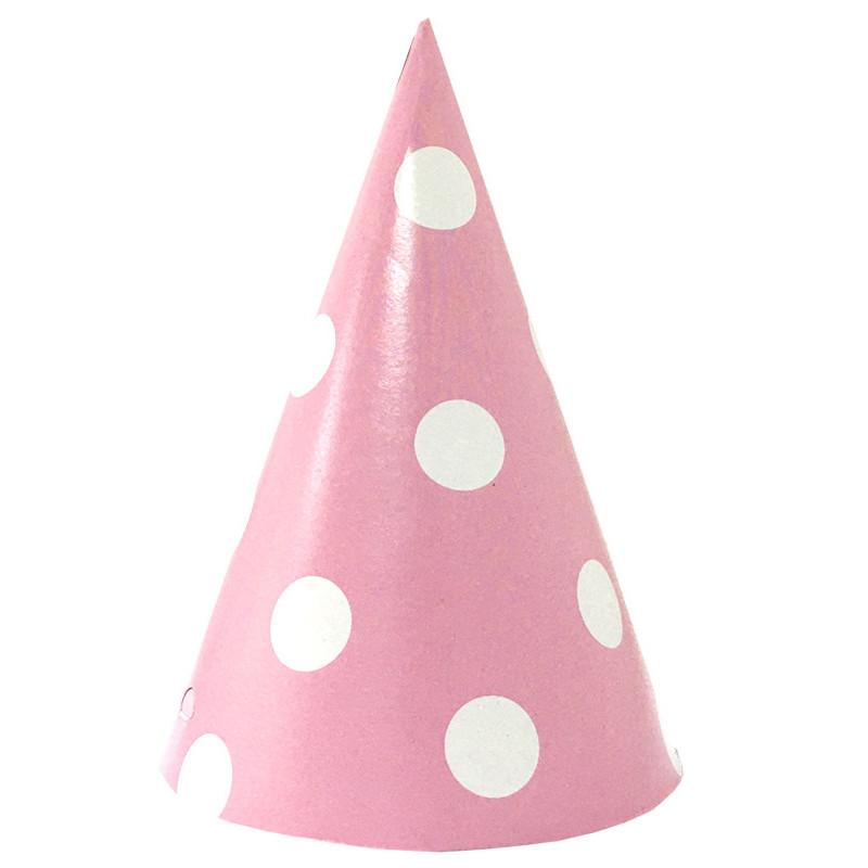 Колпачок Розовый в горох 1шт