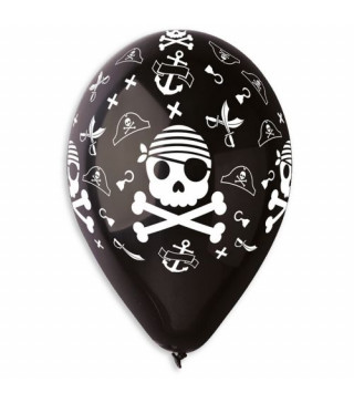 Набір кульок Череп пірата 5 шт/уп