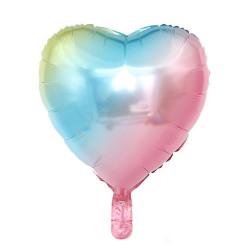 Кульки фольг.б/м Серце-райдуга  (3г) 992153 Китай