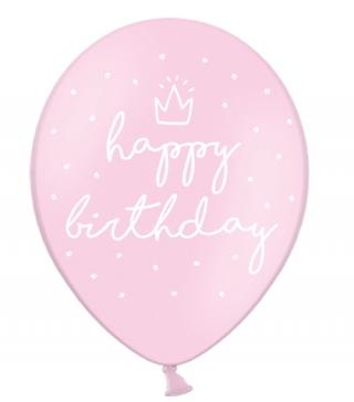 "Кульки поштучно з малюн. 14""Happy Birthday рож.1,75г) Ш-74455 PartyDECO"