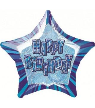Кулька фольгована зірка Happy Birtchday