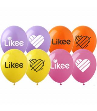 """Кульки поштучно з малюн. 12""""Li-1 Likee латекс Ш-02702 TM SHOW"""