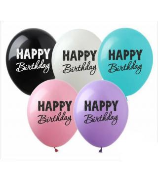 "Кульки поштучно з малюн. 12""SDR-56 Happy Birthday асорті латекс Ш-02620 TM SHOW"