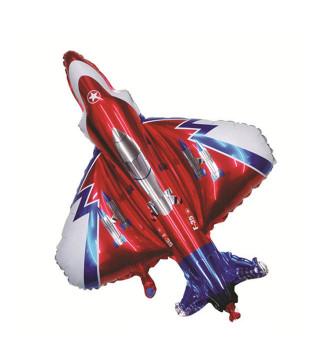 Воздушный шарик фигурный Истребитель 95 * 102см