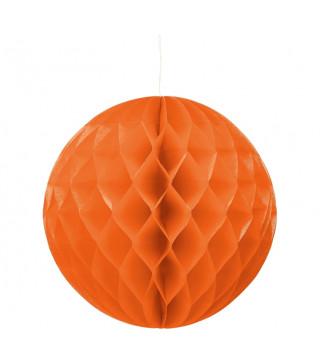 Паперові кулі-соти Оранжева. 30 см.