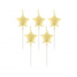 Свічка в торт з фігурками Золоті зірочки  5шт/уп