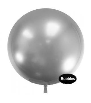 """Повітряна кулька баблс срібна 22""""(55 см)"""
