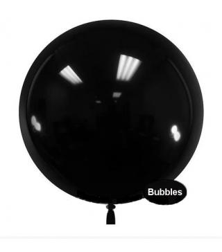 """Повітряна кулька баблс тифані чорна 22""""(55см)"""