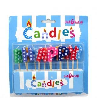 Свічки для торта Hаppy Birthday