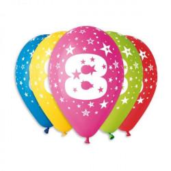 Кульки повітряні Цифра 8, 1шт