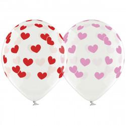 Повітряні кульки поштучно з сердечками