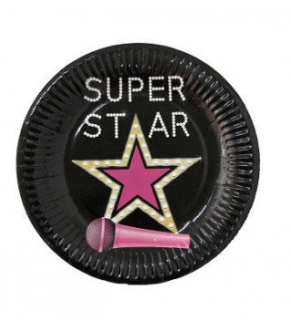 Тарілки SUPER STAR 8шт/уп папір F-181852