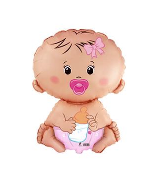 Кульки міні Дівчинка з пустишкою902752 фольга 902752 FlexMetal