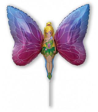 Кульки міні Дівчинка Метелик фольга 902685 FlexMetal