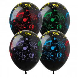 "Кульки поштучно з малюн. ""Космос"" Ш-00455 FlexMetal"
