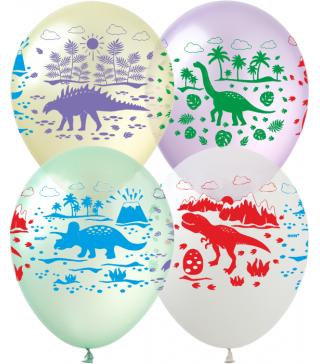 Воздушные шарики поштучно Динозавры