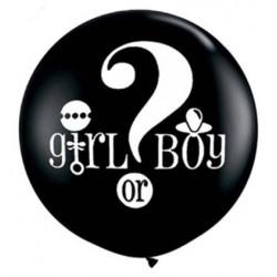 Воздушный шарик Girl or Boy черный большой