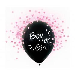 Набір кульок ? Girl /Boy 4 шт/уп +конфетті рож. латекс 12022 Godan