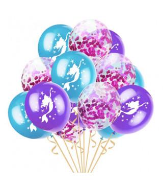 Набор воздушных шариков Русалочка с конфетти на день рождение