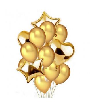 Набір повітряних кульок Бронзові латекс + фольга