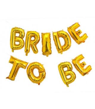 Повітряні кульки - букви Bride to be золото