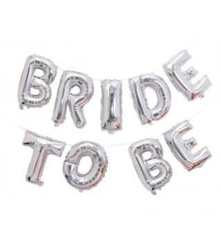 Повітряні кульки - букви Bride to be срібні