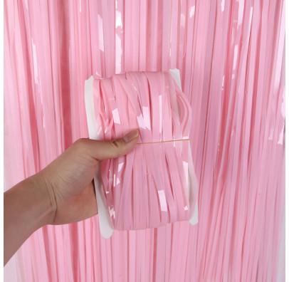 Шторка з дощику рожева-бебі