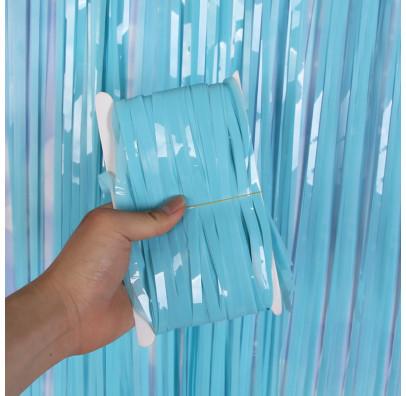 Шторка з дощику блакитна-бебі