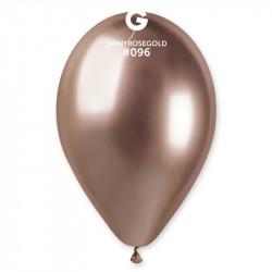 Повітряні кульки хром рожеве золото