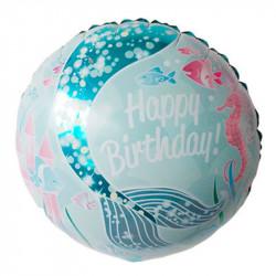 Повітряні кульки фольговані з малюнком Русалка