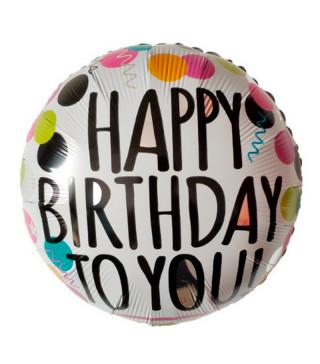 "Кульки фольг з малюнк. А18""Happy Birthday TO YOU Конфетті 2,5г) 215110 Китай"
