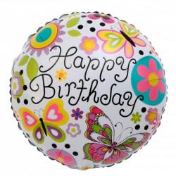 "Кульки фольг з малюнк. А18""Happy Birthday Метелик 2,5г) 215103 Китай"