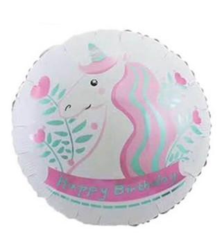 Кульки фольг з малюнк. Happy Birthday Єдиноріг(2,5г) 215191 Китай