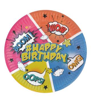 Тарелки Happy Birthday