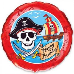 Повітряна кулька фольгована Happy birthday Пірат