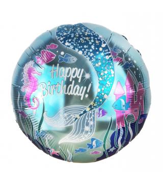 Воздушные шарики фольгированные с рисунком Русалка