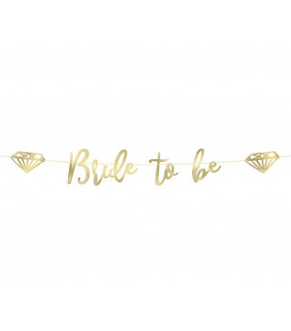 Гирлянда Bride to be золото