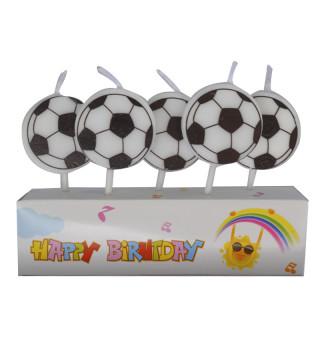 Свеча в торт с фигурками Футбольный мяч
