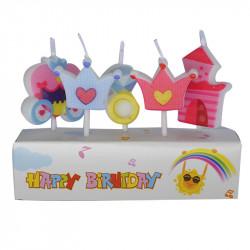 Свеча в торт с фигурками Для принцессы 5шт / уп