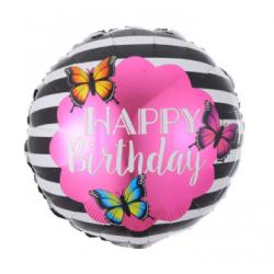 Кулька Happy birthday з метеликами