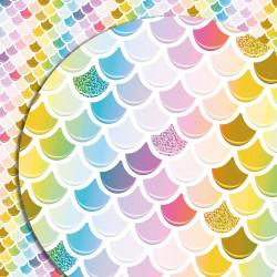 Подарочная бумага цветные капли 70*100 см