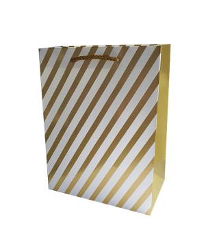 Подарунковий пакет В золоту полоску