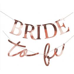 Декорація Гірлянда Bride to be  рож-золото папір 994986 Китай