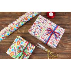 Пакувальний подарунковий папір Happy birthday