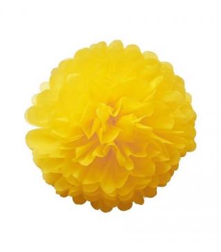 Помпон желтый 35см