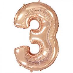 Кульки Цифра 3 рож.-золото (8г) фольга 901763(RG) FlexMetal